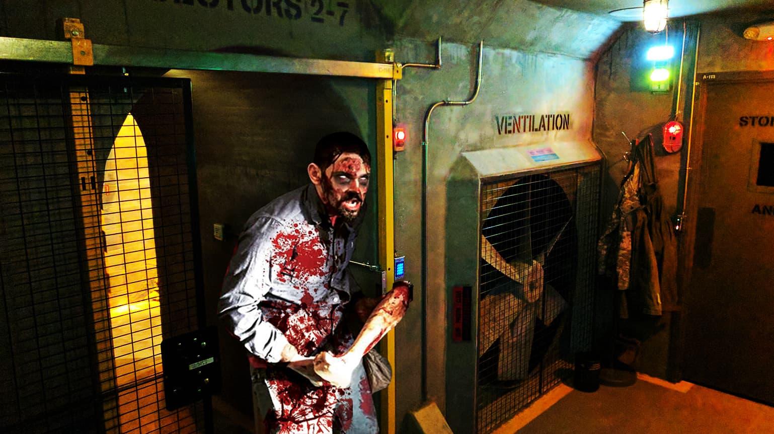 Zombie In Bunker