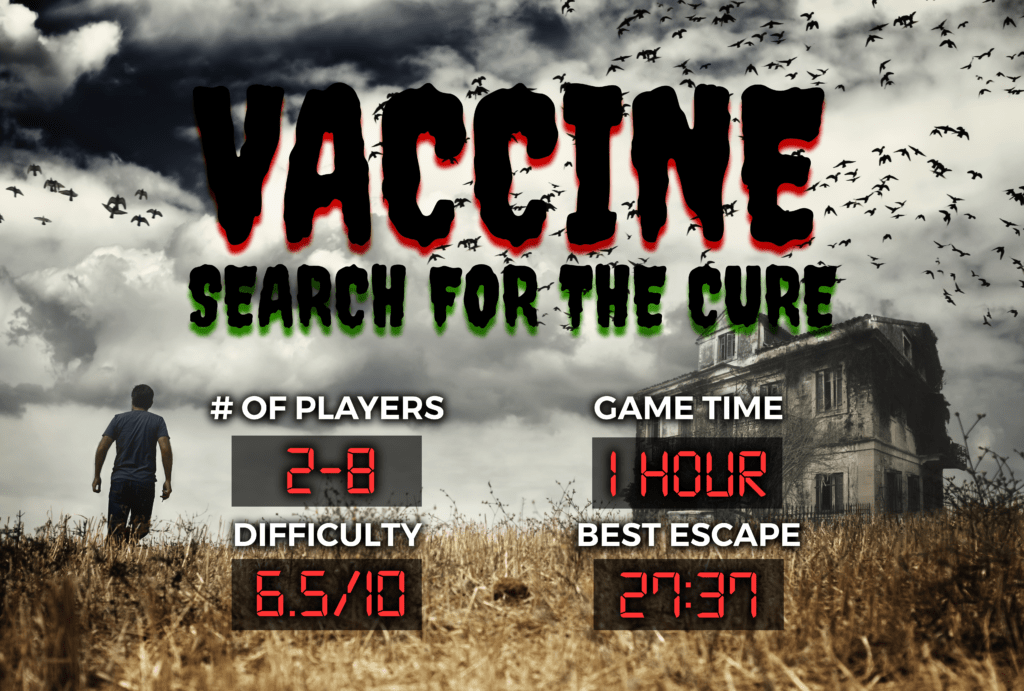 Vaccine Search For The (Zombie) Cure Escape Experience Chattanooga Breakout Escape Room Games