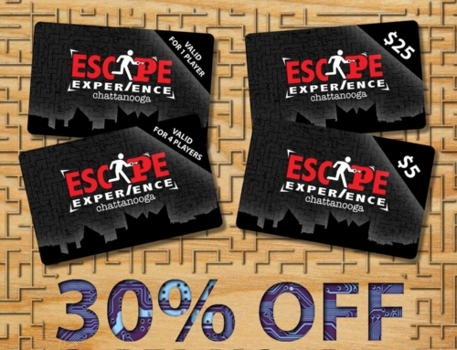 Cyber Monday:  30% OFF Escape Experience Gift Cards