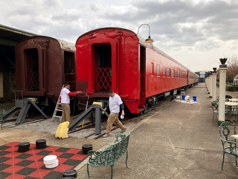 Pullman Train Car Painted Red