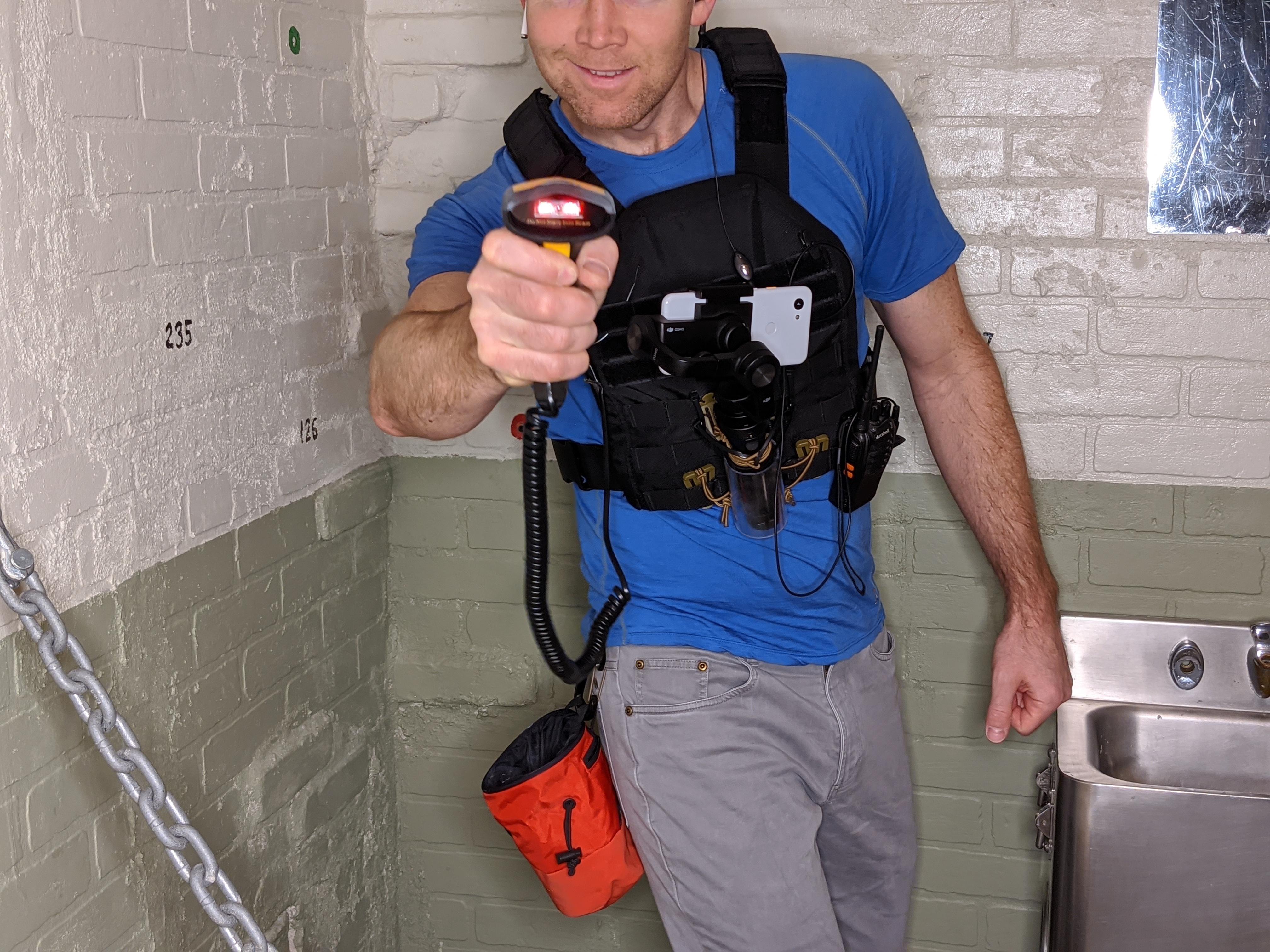 Vest, Camera and Scanner
