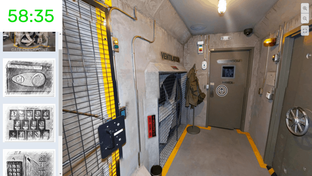The Bunker Virtual Escape Room Inventory